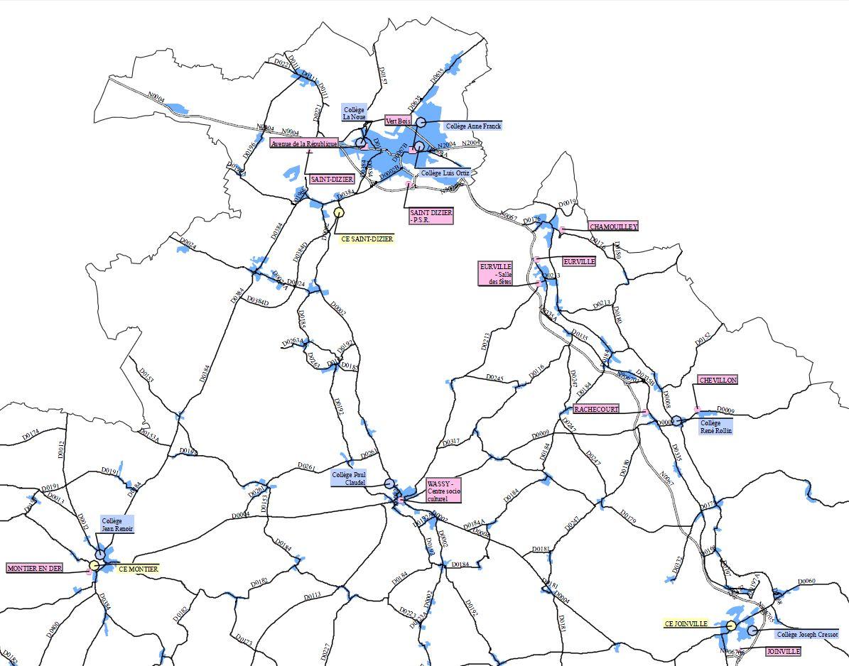 Extrait de la carte du pôle de Langres – format A0 Carte réalisée le 24/08/2012 avec ArcMap Source : Conseil Général de Haute-Marne Copyright : Maxime pour la cellule SIG du conseil général de la Haute-Marne